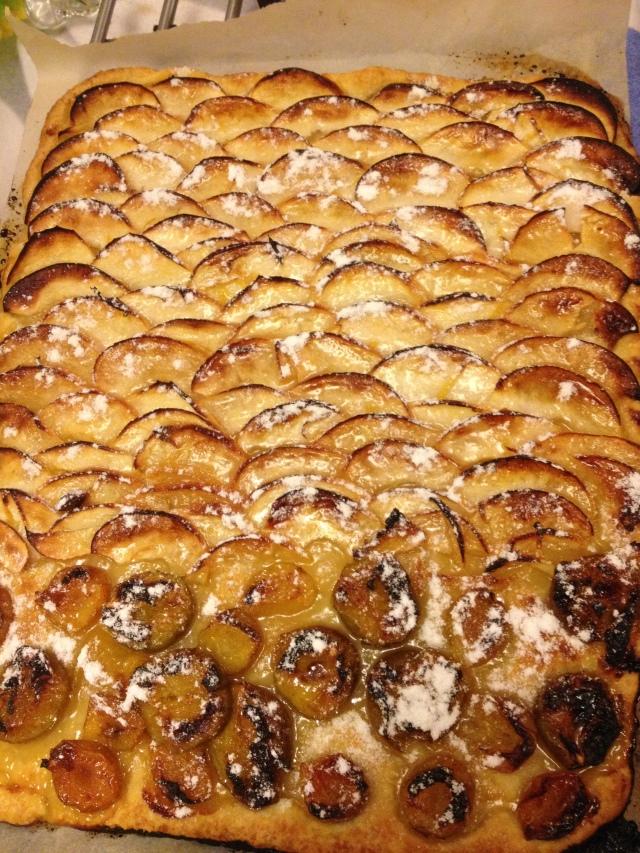 tarte aux pommes sur p 226 te feuillett 233 e felder de cuisine de l amap belles fontaines