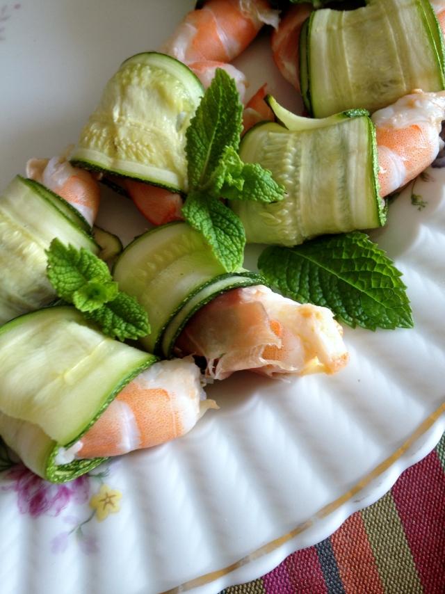 Gamberetti zucchine menta bayonne2