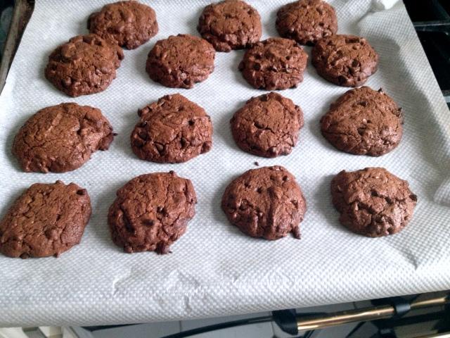Cookies à la sortie du four