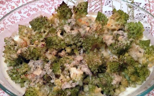 Romanesco al gratin con gorgonzola