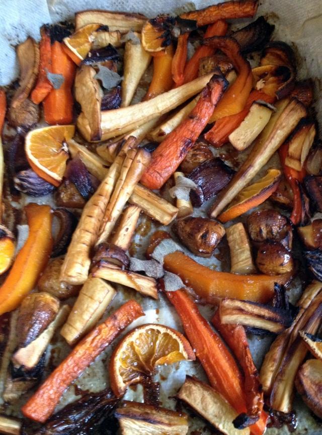 Légumes d'hiver cuits