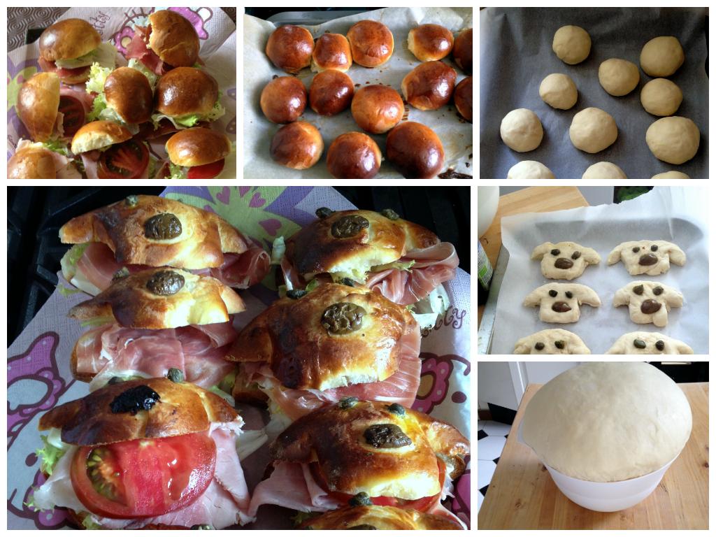 Petits pain au lait panini al latte recette italienne en - Cuisine en forme de l ...