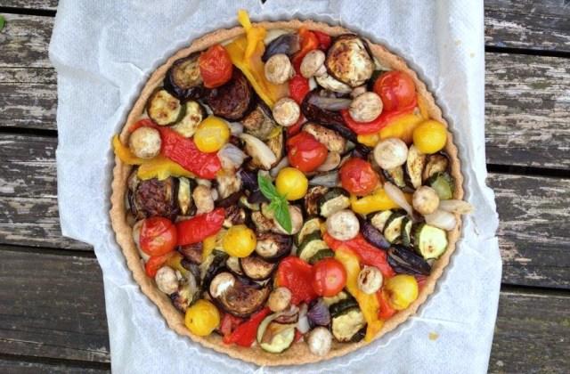 Tarte aux légumes base à l'huile farine petit épeautre