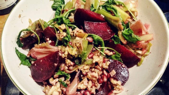 Salade de betteraves et poireaux Ottolenghi